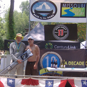Race to the Dome Epic paddle Winner Bob Maloney